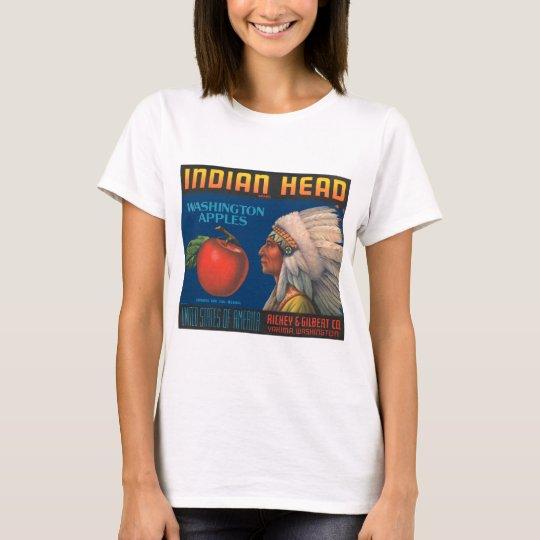 Indian Head Washington Apples Vintage Ad T-Shirt