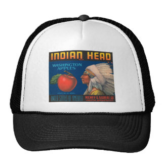 Indian Head Washington Apples Vintage Ad Trucker Hat