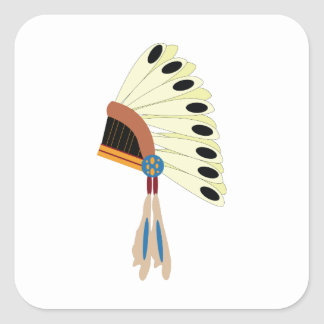 Indian Headress Square Sticker