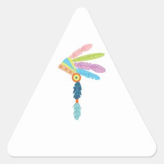 Indian Headress Triangle Sticker