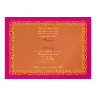 "Indian Hindu Muslim Wedding Invitation Mehndi 5"" X 7"" Invitation Card"