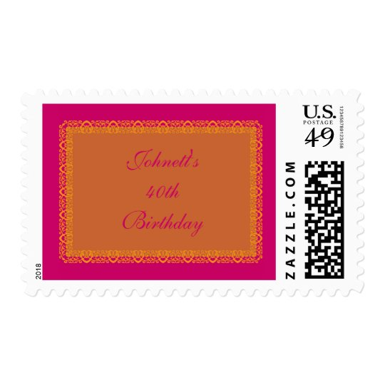 Indian Hindu Muslim Wedding Postage Stamp