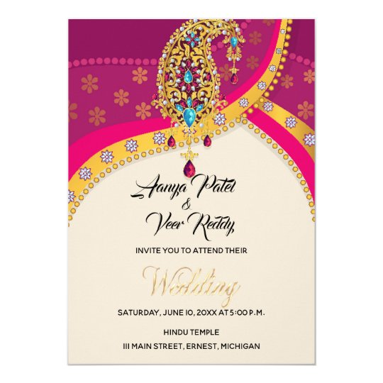 Indian Hindu Wedding Invitation Zazzle com