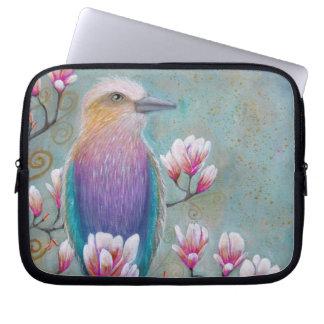 Indian Holi Bird Laptop Sleeve