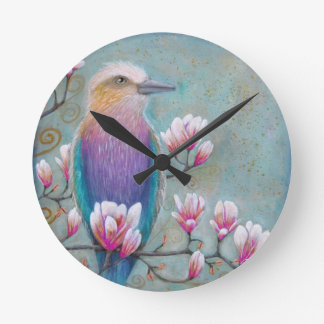 Indian Holi Bird Wall Clock