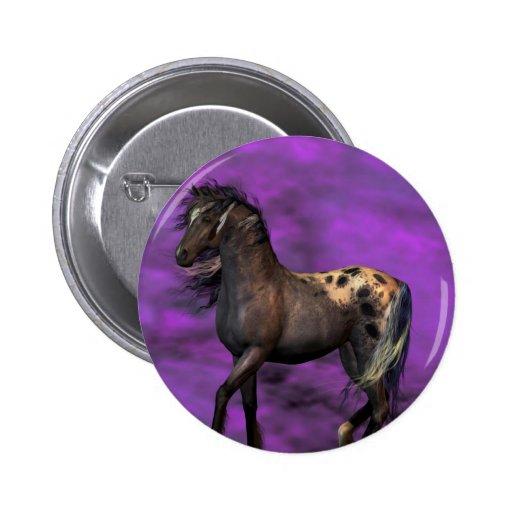 Indian Horse 2 Inch Round Button