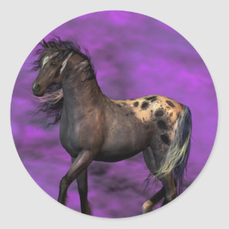 Indian Horse Classic Round Sticker