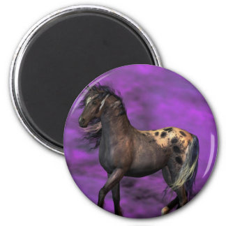 Indian Horse 2 Inch Round Magnet