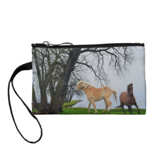 Indian Horses & Lake Equine-lover's Coin Purse