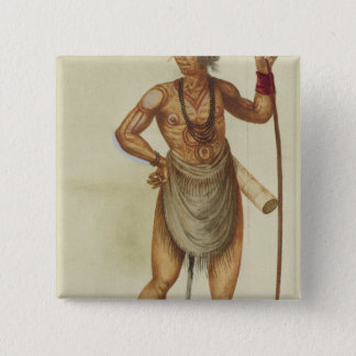 Indian in Body Paint Pinback Button
