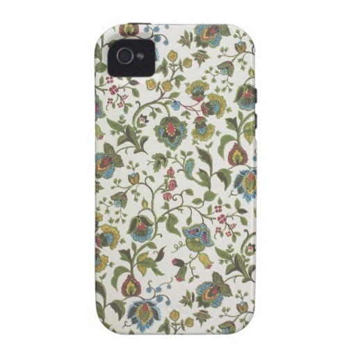 Indian-inspired, floral design wallpaper, 1965-75 iPhone 4/4S cover