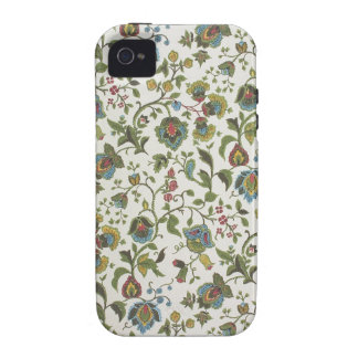 Indian-inspired, floral design wallpaper, 1965-75 iPhone 4 cover