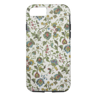 Indian-inspired, floral design wallpaper, 1965-75 iPhone 7 case