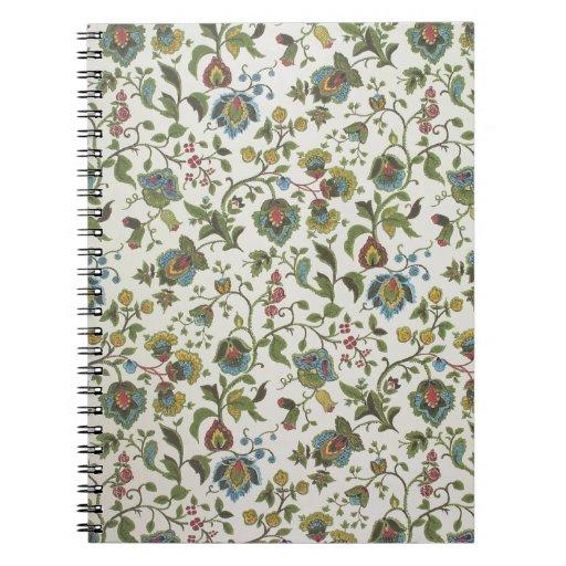 Indian-inspired, floral design wallpaper, 1965-75 notebooks