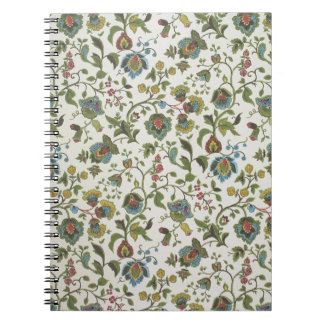 Indian-inspired, floral design wallpaper, 1965-75 spiral notebook