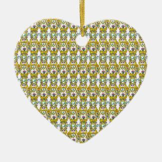 Indian Inspired Motif Pattern Ceramic Ornament