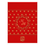 Indian Inspired Wedding Reception in Red & Gold Invitation
