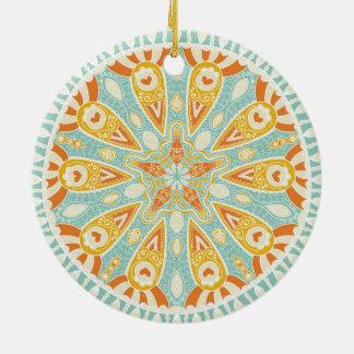 Indian Kaleidoscope Art Ceramic Ornament