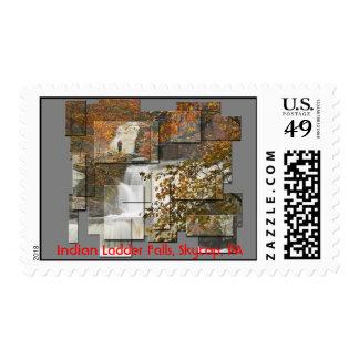 Indian Ladder Falls Postage Stamp