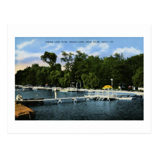 Indian Lake Club, Indian Lake, Niles, Michigan Postcard