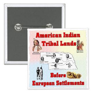Indian land pinback button