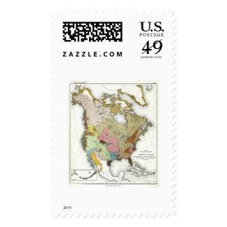 Indian Linguistics Map 1890 Postage Stamp