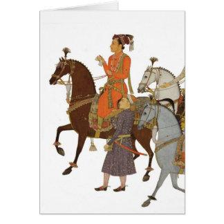 Indian Maharaja on Horseback, Thank You Note/Card