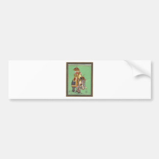 INDIAN MAHARAJAH ON DECORATED ROYAL ELEPHANT BUMPER STICKER