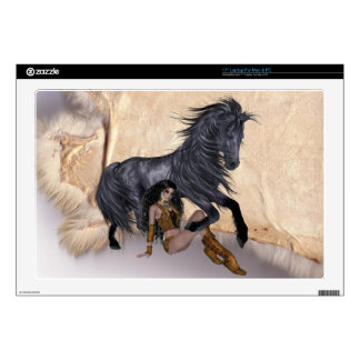 Indian Maiden and her Horse Laptop Skin