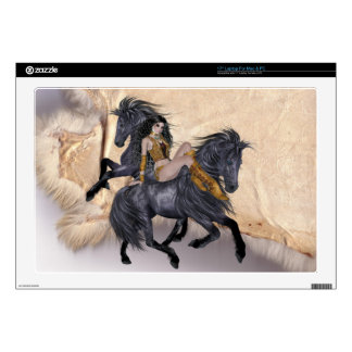 Indian Maiden and her Horses Laptop Skin