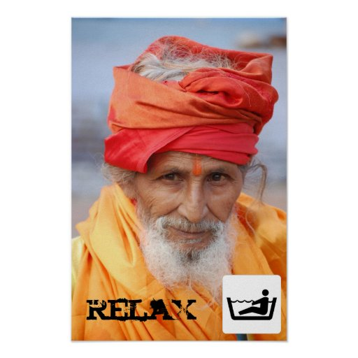 Indian man relaxed print