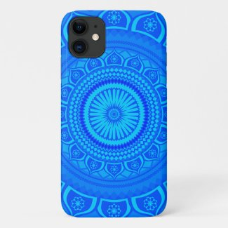 Indian mandala Blue iPhone 11 Case