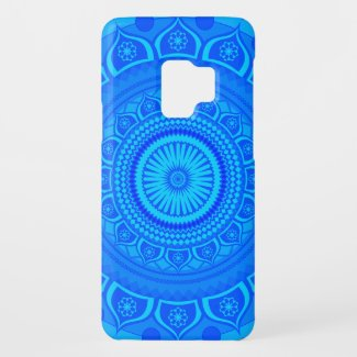 Indian mandala Blue Case-Mate Samsung Galaxy S9 Case