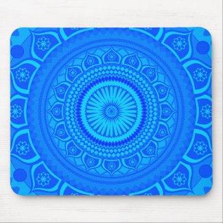 Indian Mandala Blue Mouse Pad
