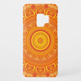 Indian mandala Orange Case-Mate Samsung Galaxy S9 Case