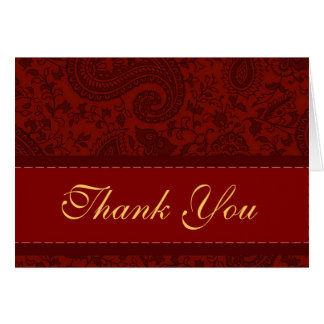 Indian mango red thank you card