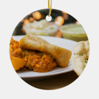 Indian meal ceramic ornament