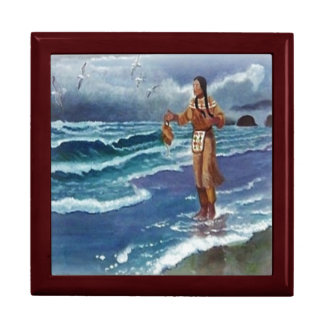 Indian Medicine man by the ocean Gift Box