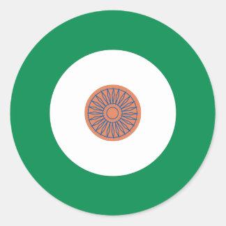 Indian Mod Round Sticker