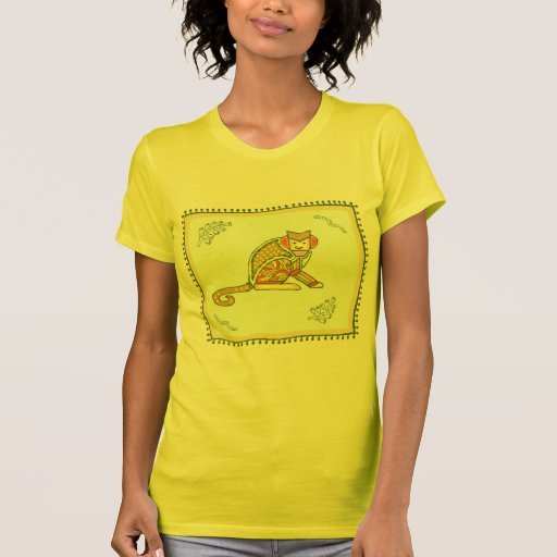 Indian Monkey Quilt T-shirts