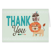 Indian Native American African Thank You Card
