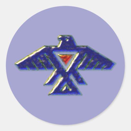 Indian native american anishinabe ojibwe ojibwa classic round sticker