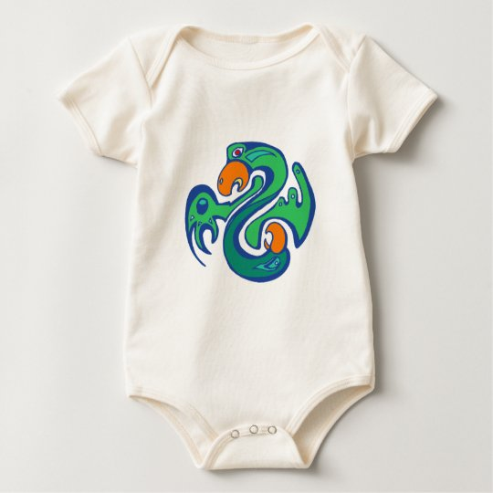 Indian native american bird bird baby bodysuit