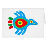 Indian native american bird bird cards