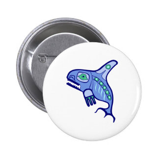 Indian native American killer whale orca Pinback Buttons