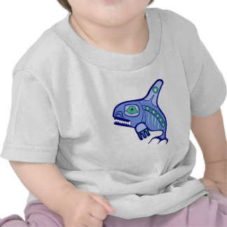 Indian native American killer whale orca T-shirts