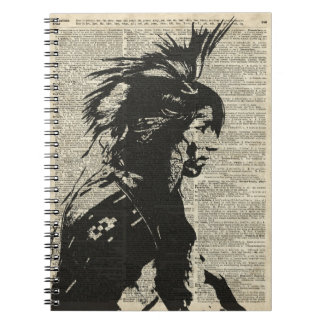 Indian Native American Over An Old Dictionary Page Note Books