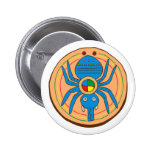 Indian native American spider SPI that Button