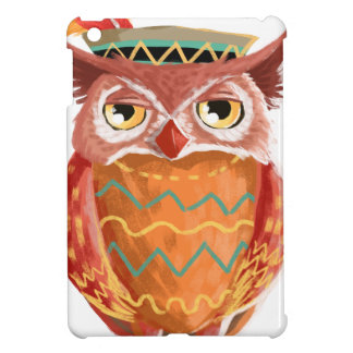 Indian Native American Thanksgiving Owl Pilgrim Cover For The iPad Mini