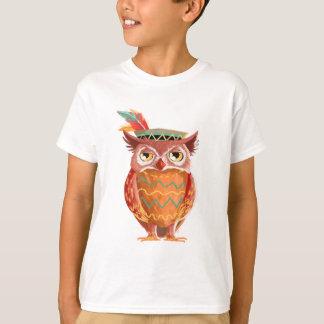 Indian Native American Thanksgiving Owl Pilgrim T-Shirt